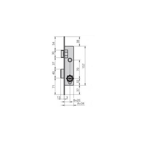 CERRADURA CVL 1963CP16/6