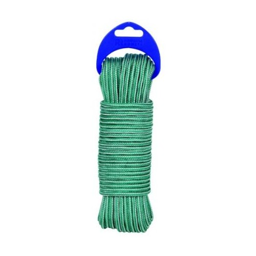BOBINA CUERDA VERDE/BLANCO 4MM 25MT
