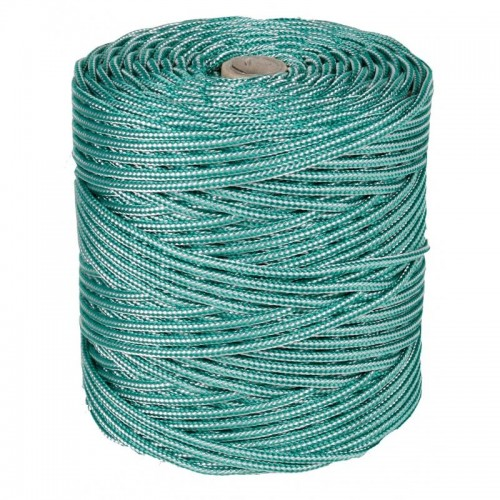 BOBINA CUERDA VERDE/BLANCO 4MM 200MT