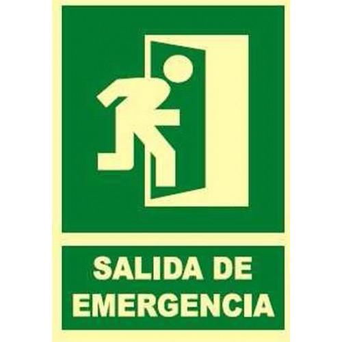 SEÑAL FOTOLUMINISCENTE SALIDA EMERGENCIA