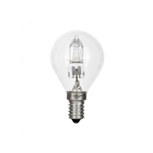 LAMPARA HALOGENA ESFERICA E14 28W(40W)