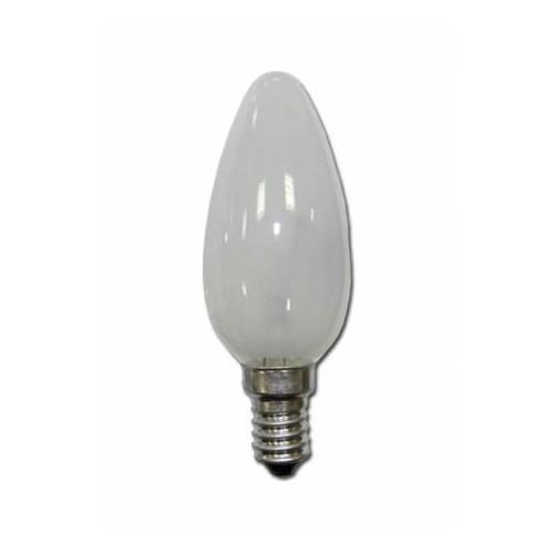 LAMPARA HALOG. VELA MATE E14 42W(60W)
