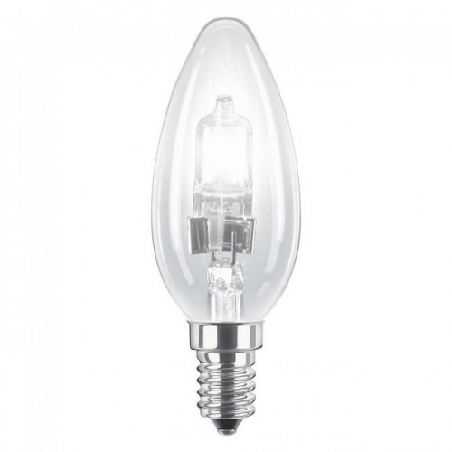 LAMPARA HALOGENA VELA E14 28W(40W)