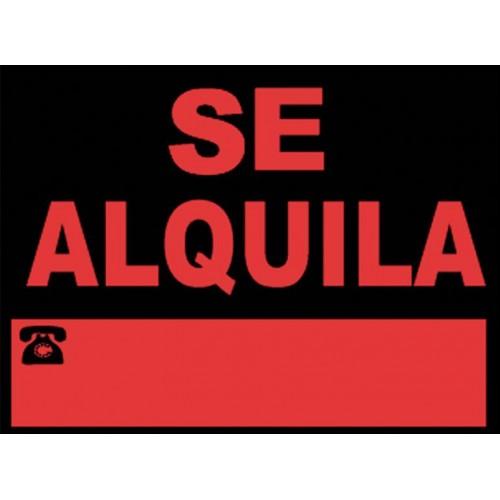 SEÑAL SE ALQUILA 40X30 CM