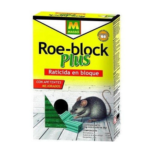 RATICIDA ROE-BLOCK 224 GR