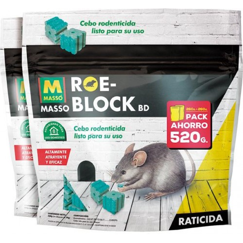 RATICIDA ROE-BLOCK 2X1 260G+260G
