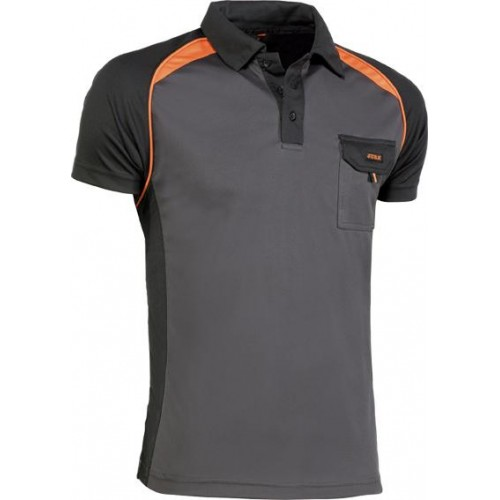 POLO TOP RANGE 964 NEGRO/NARANJA T-XL