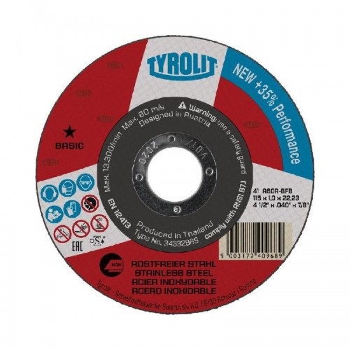 DISCO CORTE BASIC 41 A60R-BFB 125X1