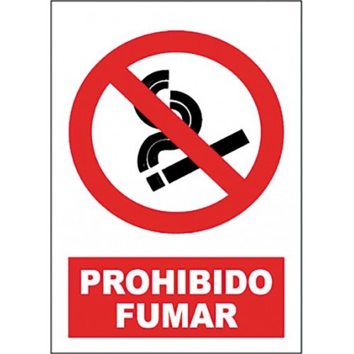 SEÑAL PROHIBIDO FUMAR 40X30CM