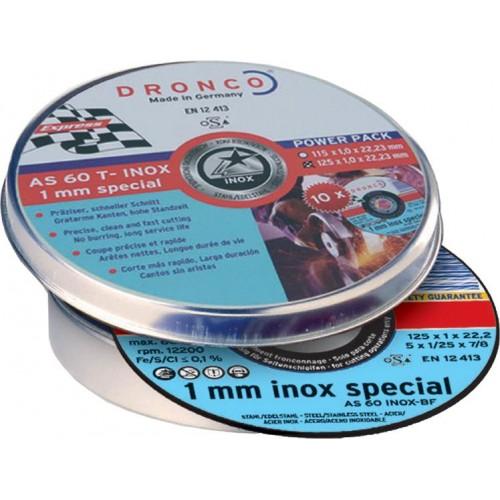 CAJA 10 DISCOS INOX 115X1MM